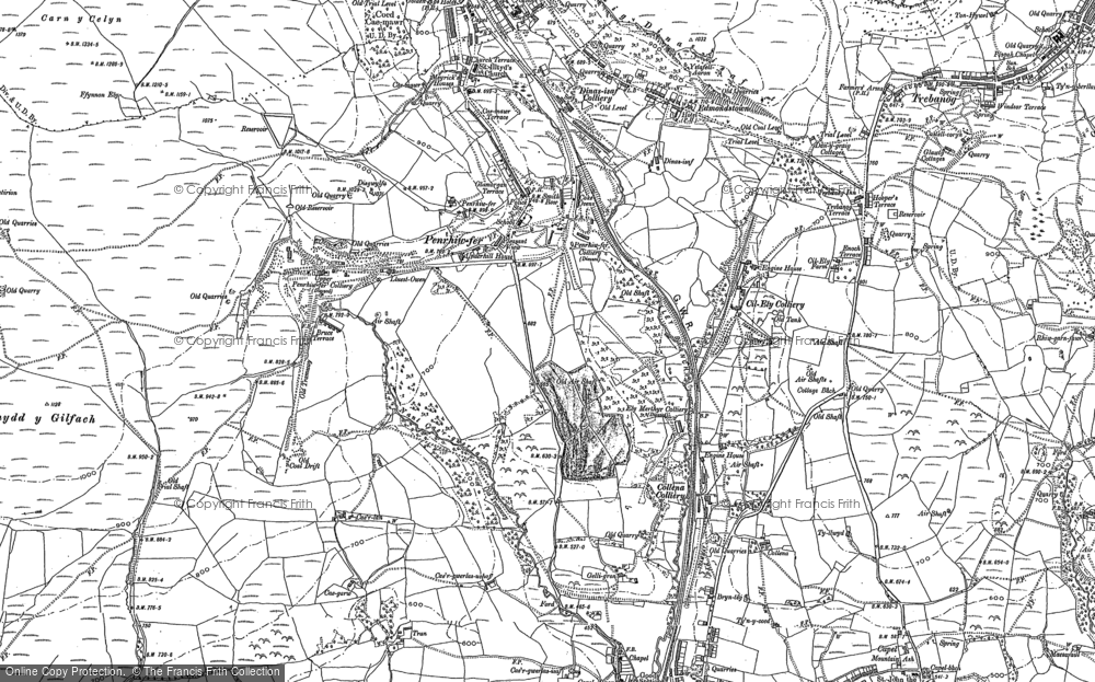 Old Map of Penrhiwfer, 1898 in 1898