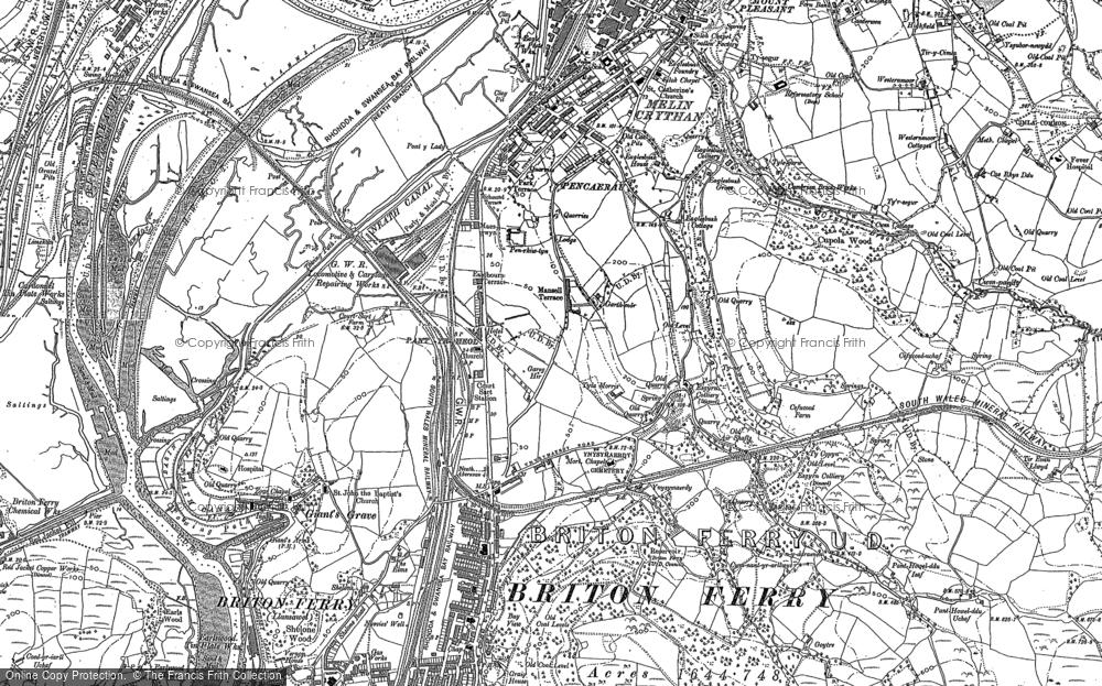 Old Map of Penrhiwtyn, 1897 in 1897
