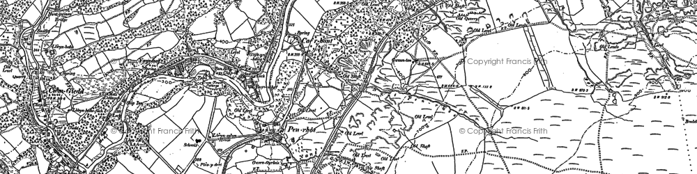 Old map of Cae'r-bont in 1903