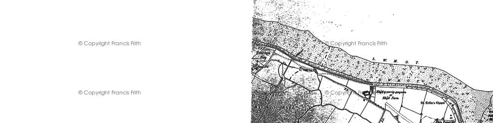 Old map of Rhôs-on-Sea in 1899