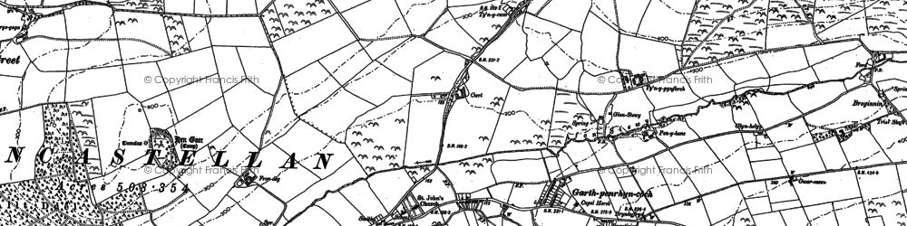 Old map of Afon Stewy in 1904