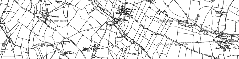 Old map of Penrose in 1880