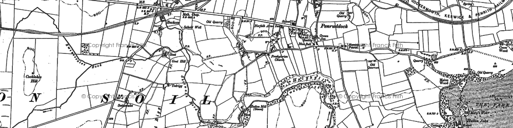 Old map of Penruddock in 1898