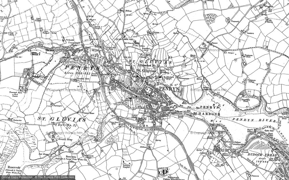 Old Map of Penryn, 1906 in 1906