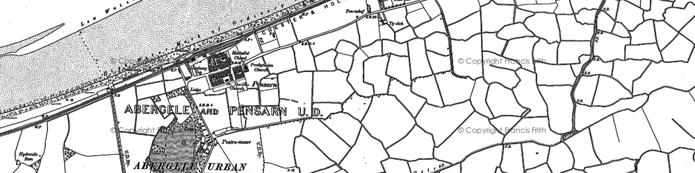 Old map of Pensarn in 1911