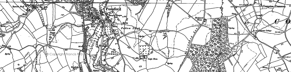 Old map of Pensford in 1882