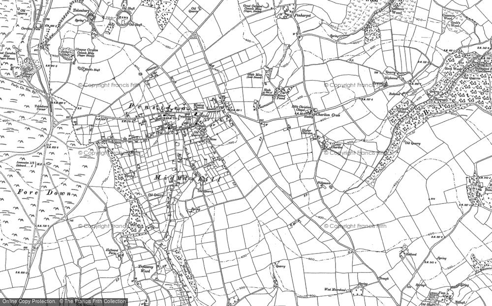 Old Map of Historic Map covering Woolston in 1882