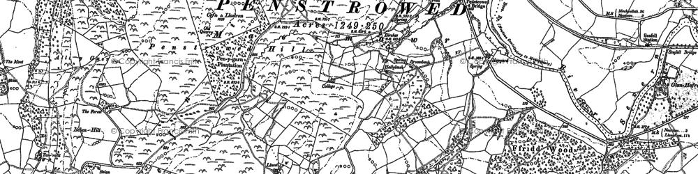 Old map of Allt y Gaer in 1884