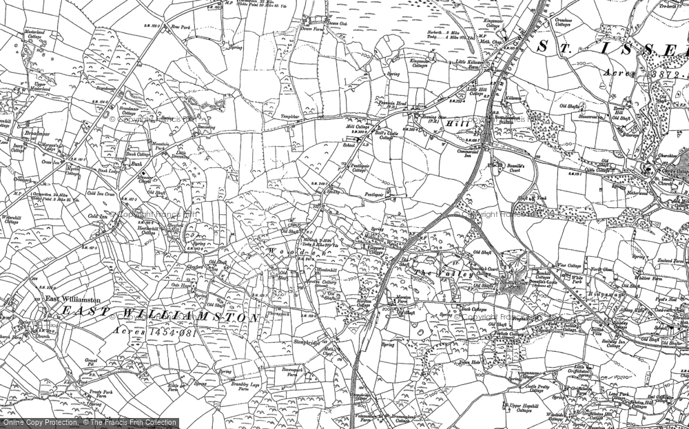 Old Map of Historic Map covering Wooden in 1906