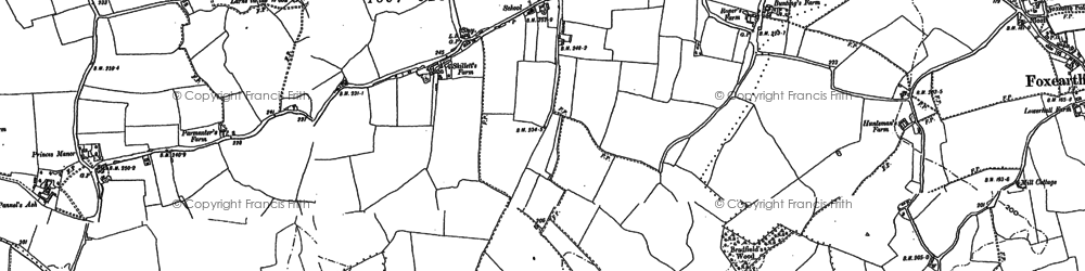 Old map of Pentlow in 1885