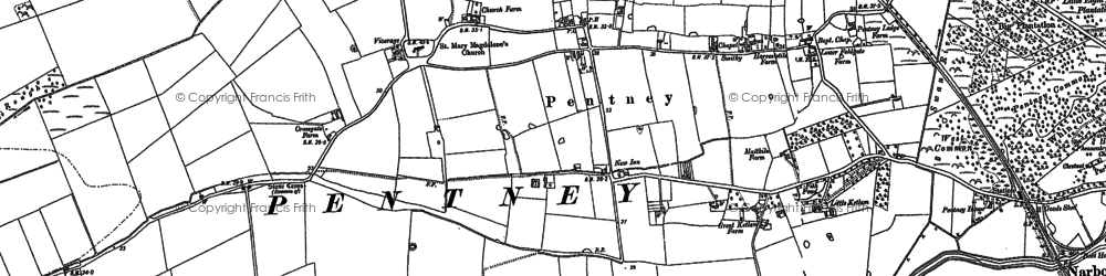 Old map of Ashwood Lodge in 1884