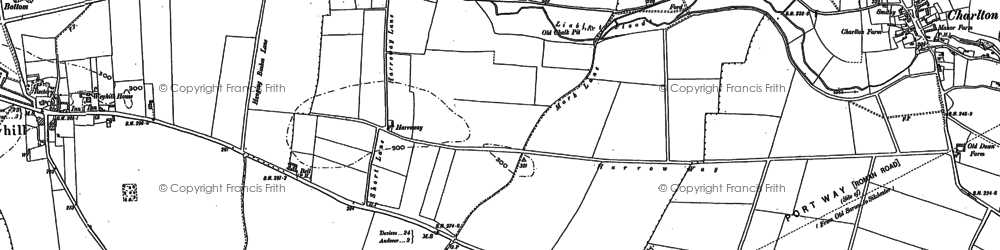 Old map of Weyhill Service Area in 1894
