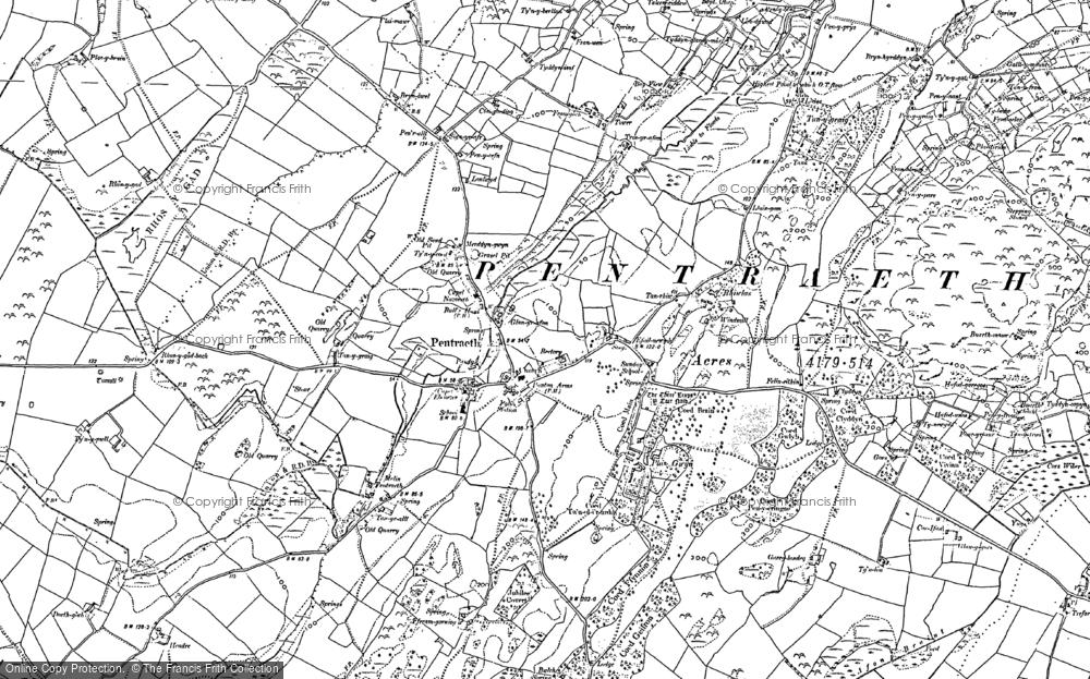 Map of Pentraeth, 1888