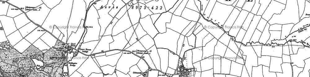Old map of Argoed in 1882