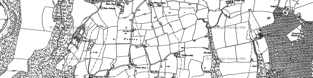 Old map of Wynnstay Park in 1909