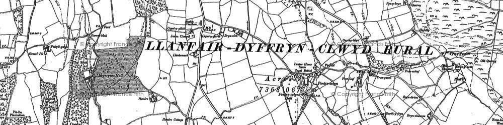 Old map of Afon Hesbin in 1898