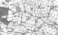 Old Map of Pentre Maelor, 1909