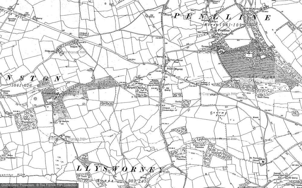 Old Map of Pentre Meyrick, 1897 in 1897