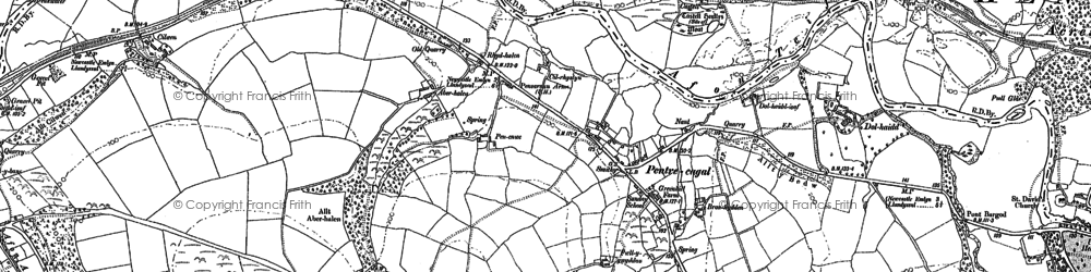 Old map of Aberhalen in 1887
