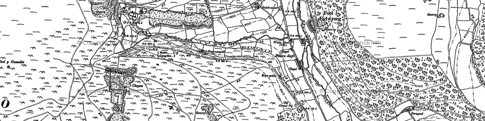 Old map of Pentredwr in 1898