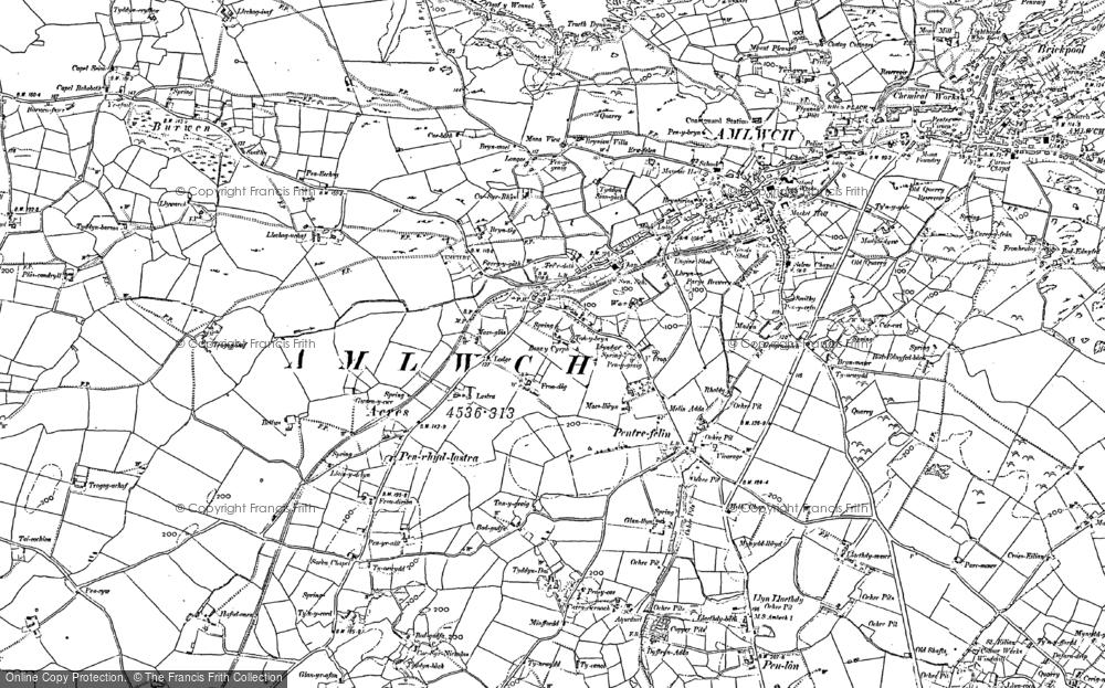 Old Map of Pentrefelin, 1899 in 1899
