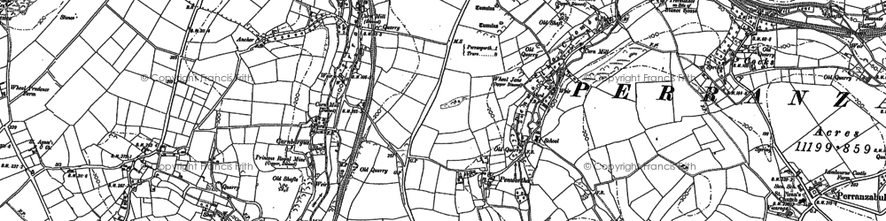Old map of Penwartha in 1906