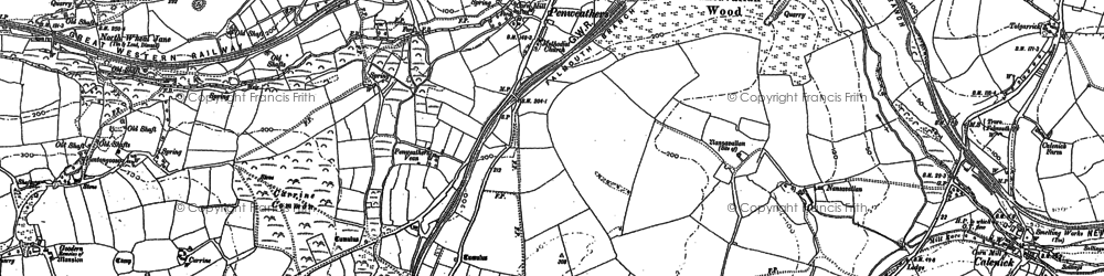 Old map of Highertown in 1879