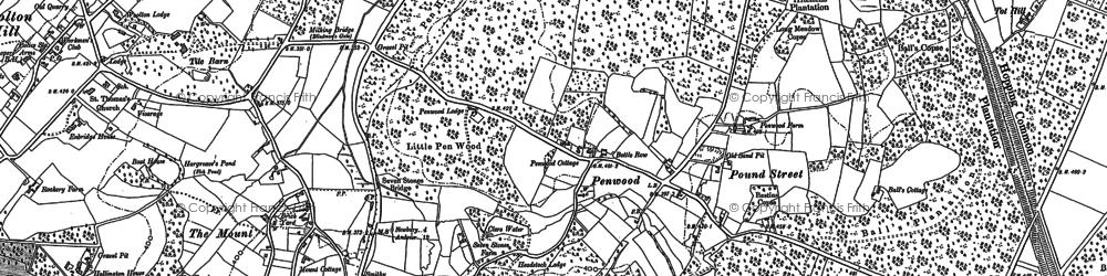 Old map of White Oak Ho in 1894