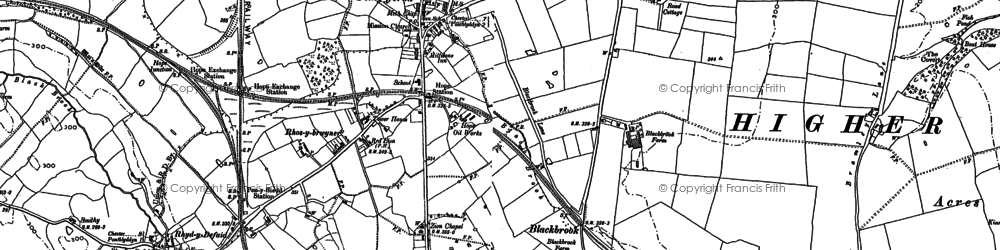 Old map of Penyffordd in 1898