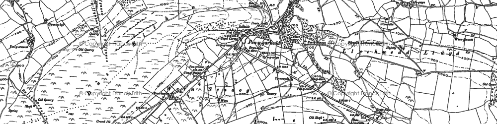 Old map of Y Glog in 1885