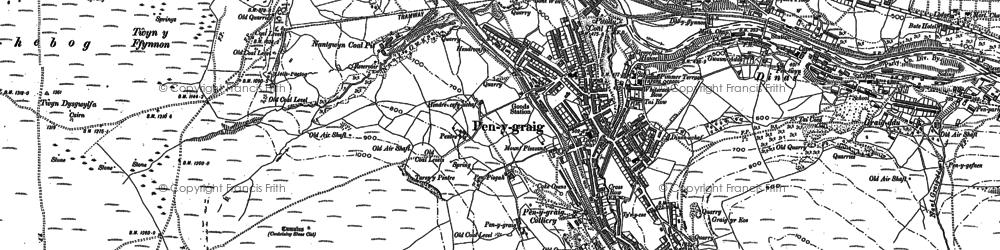 Old map of Penygraig in 1898