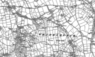 Old Map of Penygroes, 1888