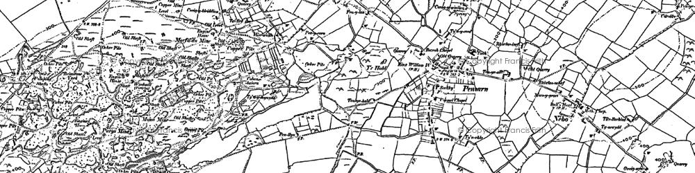 Old map of Penysarn in 1887