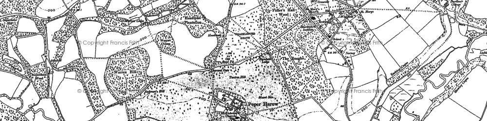 Old map of Bagmoor Common in 1895