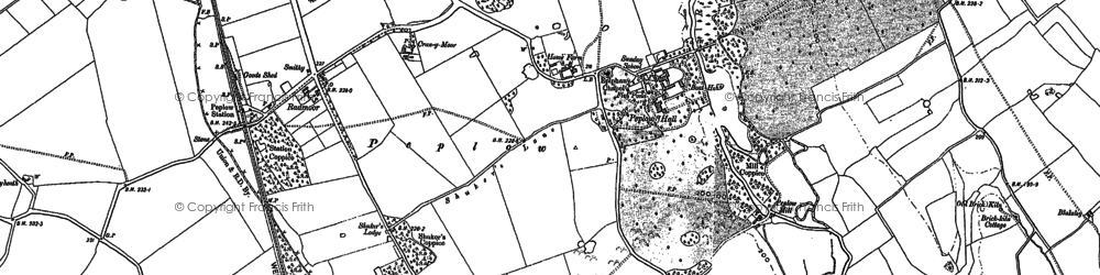 Old map of Peplow in 1880