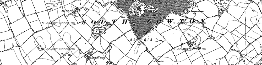 Old map of Atley Fields in 1891