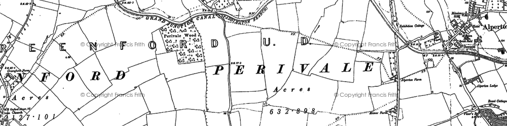 Old map of Alperton in 1894