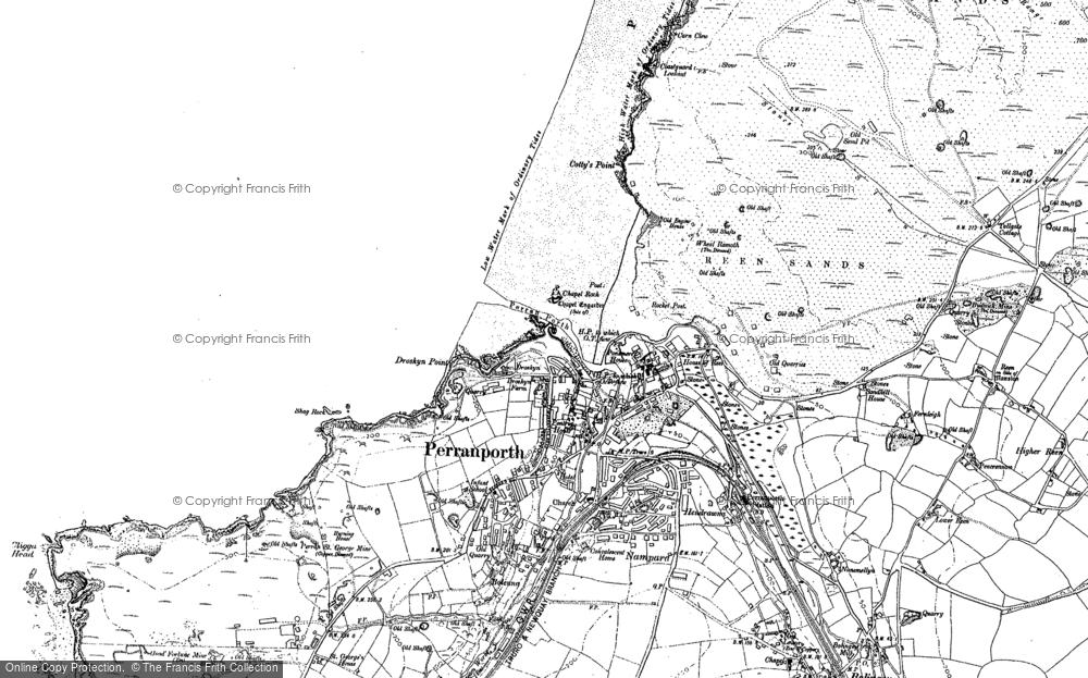 Map of Perranporth, 1906