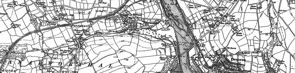 Old map of Perranwell in 1878
