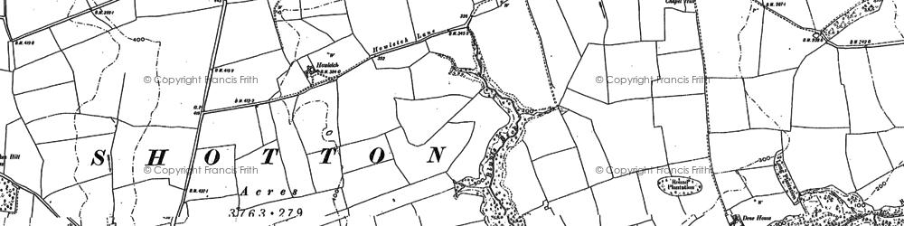 Old map of Peterlee in 1897