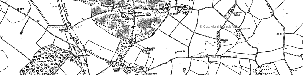 Old map of Whiteway Bottom in 1899
