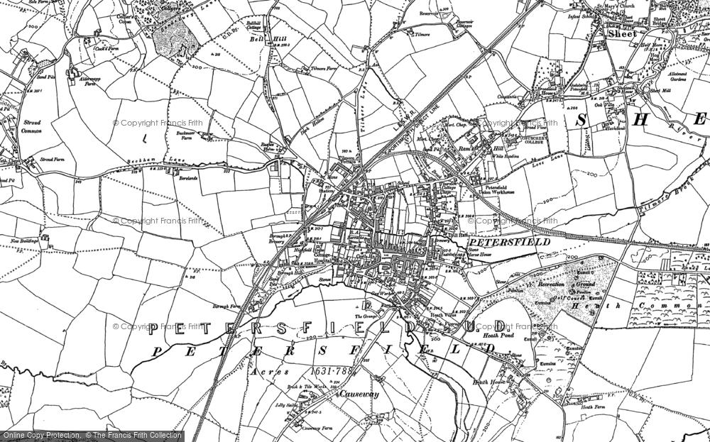 Map of Petersfield, 1895 - 1908