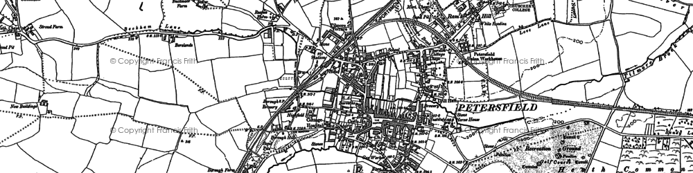 Old map of Petersfield in 1895