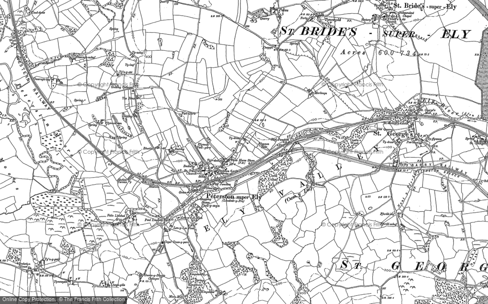 Old Map of Historic Map covering Allt Laes in 1898
