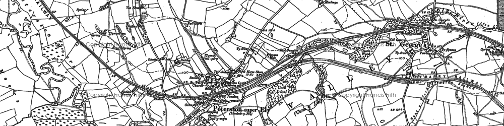 Old map of Allt Laes in 1898