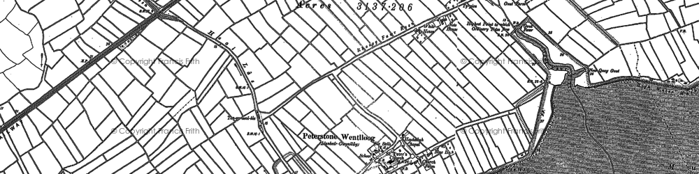 Old map of Peterstone Wentlooge in 1899