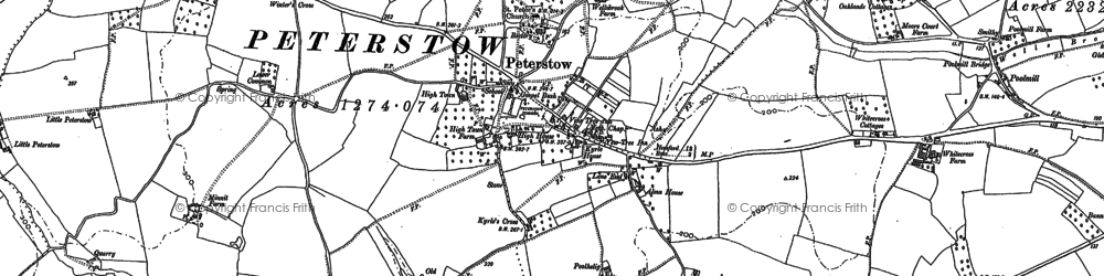 Old map of Peterstow in 1887