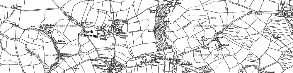 Old map of Petherwin Gate in 1882