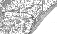 Old Map of Pett Level, 1907 - 1908