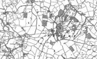 Old Map of Petton, 1880
